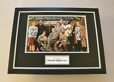 Phoenix Nights Peter Kay Signed Framed 16x12 Photo Autograph Memorabilia Display