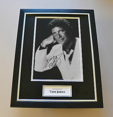Sir Tom Jones Signed Framed 16x12 Photo Autograph Music Memorabilia Display +COA