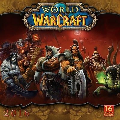Official World of Warcraft Square Wall 2016 Calendar - New & Sealed - Game
