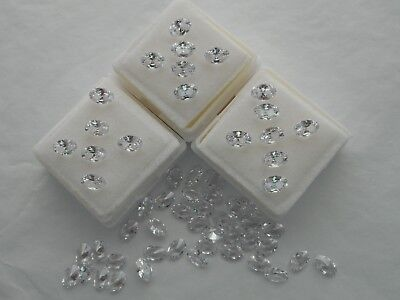 6x4mm oval white cubic zirconia CZ 4 for £1.00p.