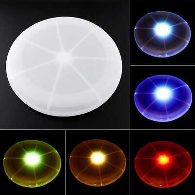 LED Light Up Multi Color Color Changing Flying Outdoor Toys Beach Frisbee