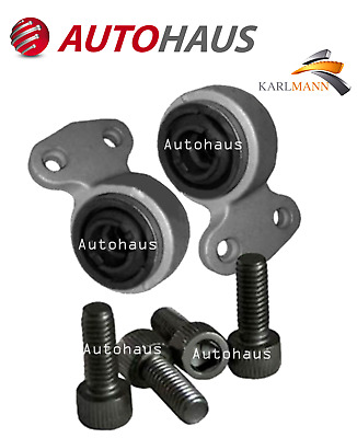 For BMW E46 3Series 2 Front Lower Suspension Wishbone Arm Bushes & Bolts KARLMAN