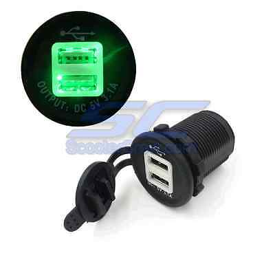 USB Charger Green UTV Polaris XP1000 RZR XP900 800 Ranger 2016 2015 Trail Round