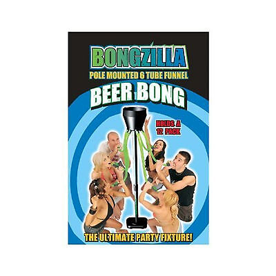 Bongzilla Beer Funnel Head Rush Party 6 PERSON tap 12 Beers Drinking Game NEW