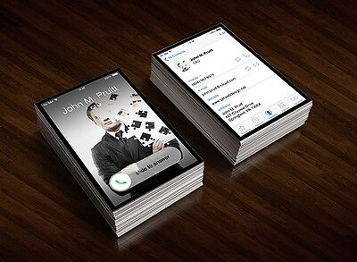 CUSTOMISED iphone business cards design
