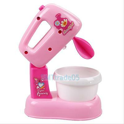 Children Kid Kitchen Electric Cake Chocolate Mixer Blender Pretend Play Toy Gift