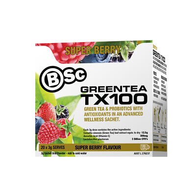 BSc BODY SCIENCE TX100 ASSORTED PACK MIX GREEN TEA PROBIOTIC