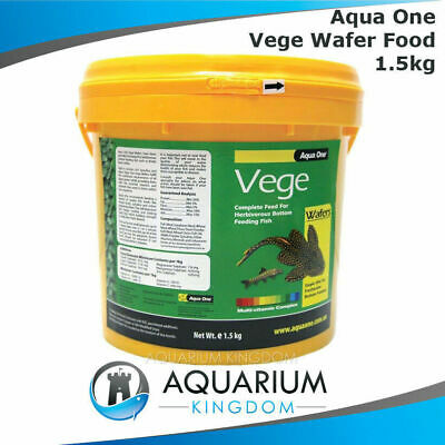 Aqua One Vege Wafers 1.5kg - Algae Sinking Tropical Food Discs Pleco Aquarium