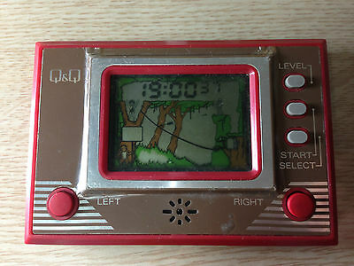 RARE 1980'S Vintage Retro Q&Q Game Watch CG-002A TARZAN LCD Japan GAME Toy LSI