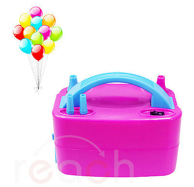 New High Power Electric Balloon Pump Two Nozzles Inflator Air Blower 110V 600W
