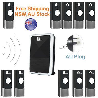 Wireless Plug-in Digital Doorbell Chime Waterproof Remote Control LED
