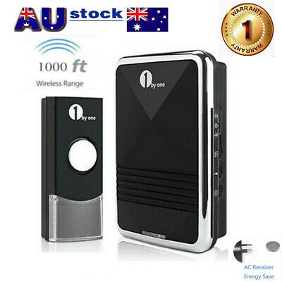 Wireless AU Plug-in Digital Doorbell Chime Waterproof Remote Sync 2Transmitters