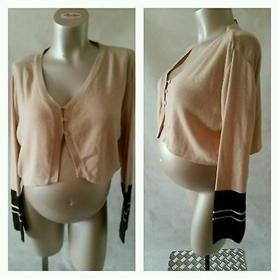 [178] Brand New Maternity Pink Cropped Cardigan by Noppies Sizes 8/10 & 16/18