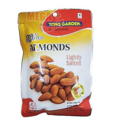 TONG GARDEN ALL NATURAL OVEN ROASTED ALMAONDS Lightly Salted Snacks 100g
