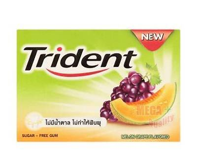Trident Chewing Gum Sugar Free - MELON and GRAPE FLAVOR 11.2g