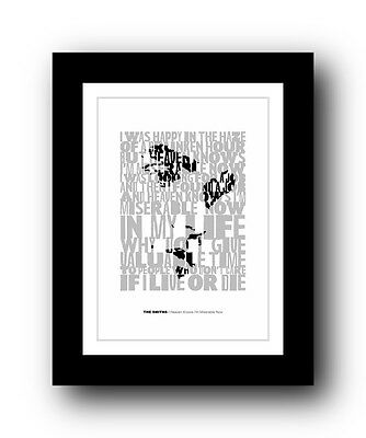 The Smiths ❤ Heaven Knows I'm Miserable Now song lyrics poster ltd Ed print