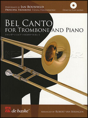 Bel Canto for Trombone and Piano Sheet Music Book with Play-Along CD