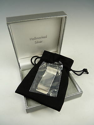 NEW - Sterling Silver MONEY CLIP - Small Hallmarks - For Engraving - Boxed