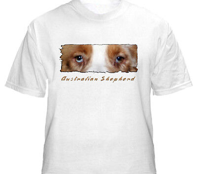 "Australian Shepherd  red  "" The Eyes Have It ""  T shirt"