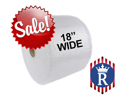 """18"""" WIDE 3/16"""" x 600' Ft Bubble Roll Small Bubbles Cushion Wrap"""