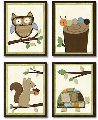 Woodland Forest Friends neutral WALL ART FOR NURSERY decor for baby's room