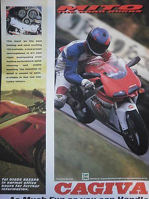 "CAGIVA MITO 125 # ORIGINAL VINTAGE MOTORCYCLE ADVERT # 12"" x 8"""
