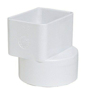 "Plastic Trends Flush Downspout Adapter 2 "" X 3 "" X 3 "" Pvc"