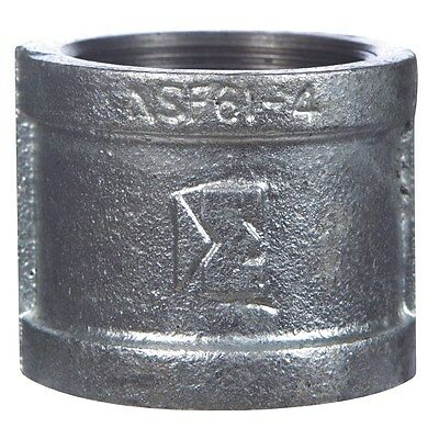 """B & K Coupling Malleable Galvanized Iron 1/4 """" Fip Pack of 5"""