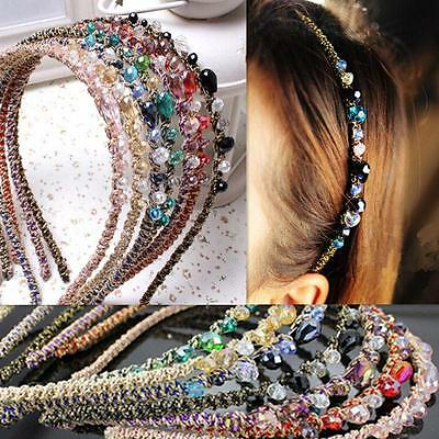 New Rhinestone Women Crystal Headband Barrette Accessories Hairpin Hair Clip