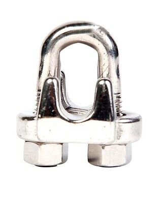 "Campbell Chain U-Bolt Wire Rope Clip Stainless Steel Use On 1/4"" Or 9/32""-PK 10"