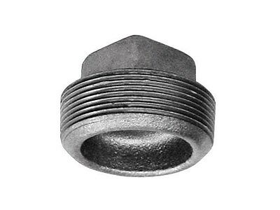 """B & K Plug Malleable Galvanized Iron 1 """" Fip Pack of 5"""