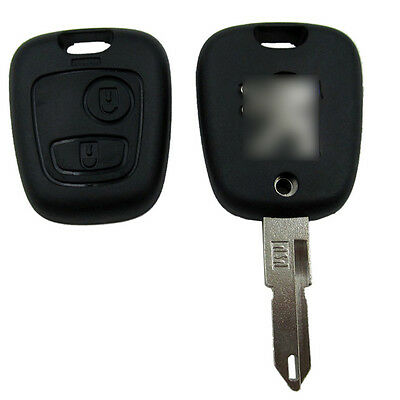 Remote Key Fob Case 2 Button Uucut Blade For Peugeot 106 206 306 406
