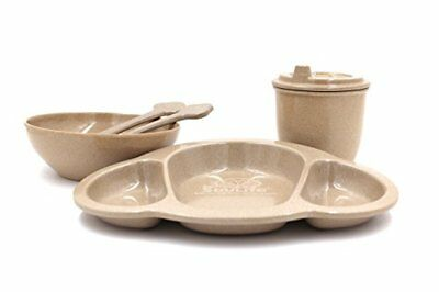 Baby Dinner Set EcoSouLife Husk Reusable Biodegradable Dish Plate Cup Child