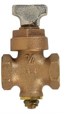 "Mueller Stop And Drain Valve 3/8 "" < 0.25 % Lead Threaded 3/4 "" Ips Bronze Boxed"