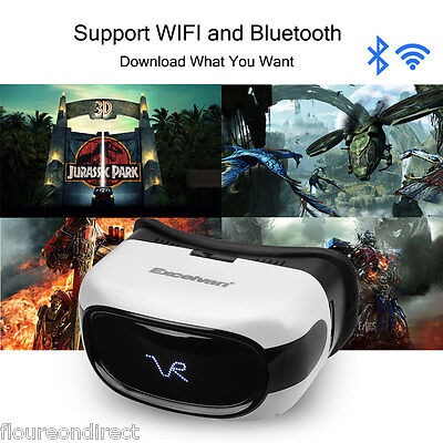 Excelvan All in One VR Virtual Realidad Casco 3D Gafas Android 5.1 Movie Player