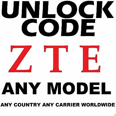 Zte Any Model Unlock Code Service Any Carrier Worldwide At&t T-Mobile Cricket