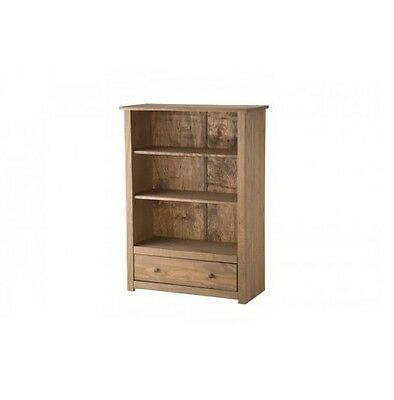 Mercers Furniture Panama Solid Pine Living Room 1 Drawer Bookcase