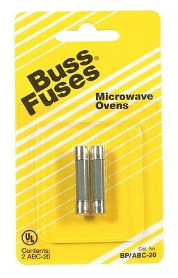 "Bussmann Fuse Fast Acting, Microwave Oven 20 Amp 250 V 1/4 "" X 1-1/4 "" Cd 2"