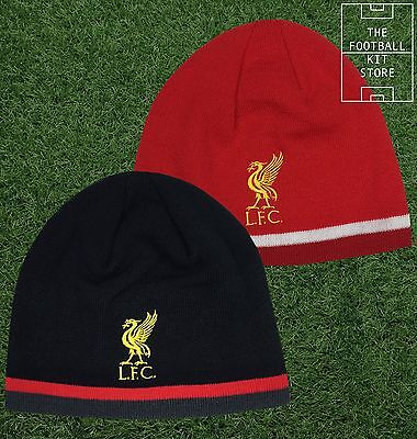 Liverpool Football Beanie Hat - Fleece Lined  Hat - One Size - Red or Black
