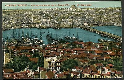 C1920's Panoramic View of Istanbul & Ships on the Bosphorus Strait
