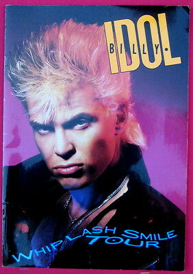 Billy Idol 1986 WHIPLASH SMILE tour concert program 24 pages
