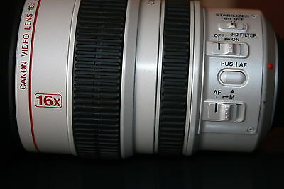 Canon 16x video  Zoom  lins IS II for XL XL1 XL2 camcorders