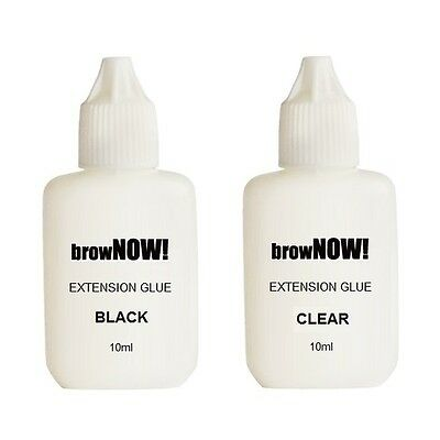 browNOW! Adhesive Individual Eyebrow Extensions GLUE - Black / Clear Transparent