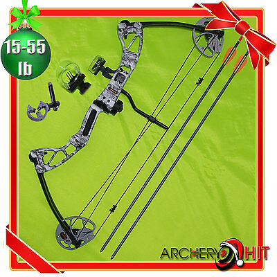 15-55lb Limited Edition Skull Camo Compound Bow RTS Package