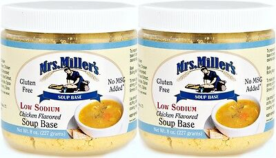 Mrs Millers Homestyle Low Sodium Chicken Soup Base - 2 Jars / Gluten Free No MSG