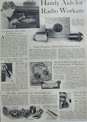 Vintage Magazine Product Page 'Handy Aids for RADIO Workers' - No. 2, 1930s.