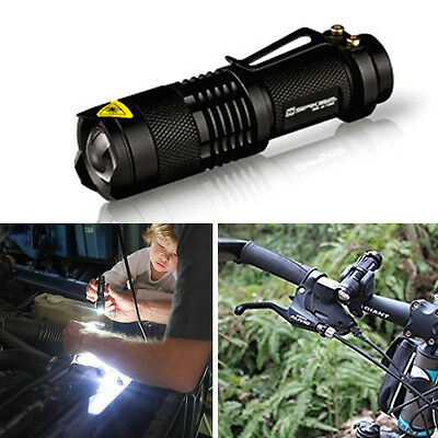 7W UltraFire 300LM CREE Q5 LED Zoomable Zoom Flashlight Torch Light Lamp