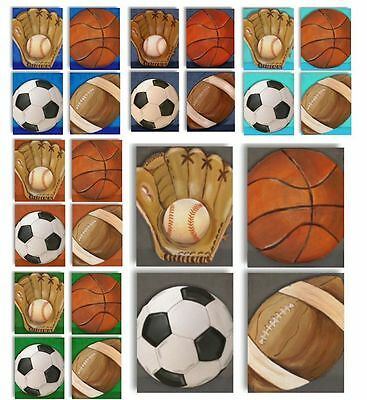 Multi Color Options MVP All Star Sports Ball WALL ART FOR KIDS ROOM boy prints