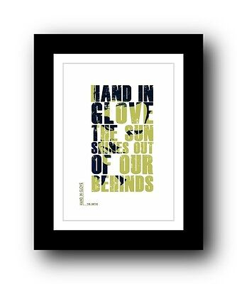 The Smiths ❤ Hand In Glove ❤ song lyrics poster art limited edition print