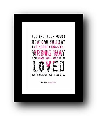 The Smiths ❤ How Soon Is Now song lyrics poster art limited edition print  #3